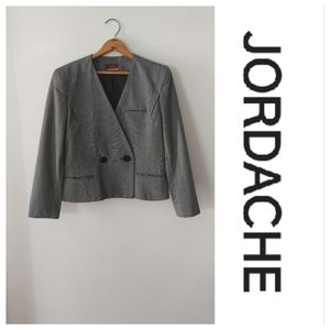 JORDACHE cropped double breasted blazer
